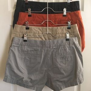 Lot of 4 pairs of J. Crew City Fit Chino Shorts